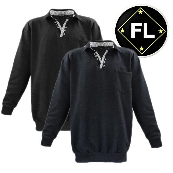 Lavecchia  - Sweatshirt mit modischen Knopf Kragen