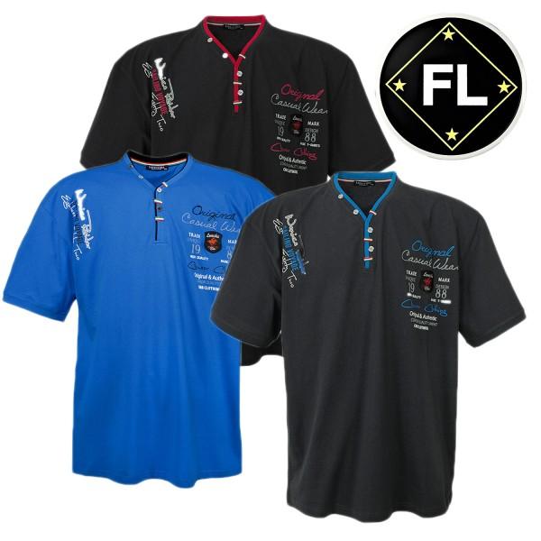Lavecchia T Shirt mit V-Neck  und Knöpfen