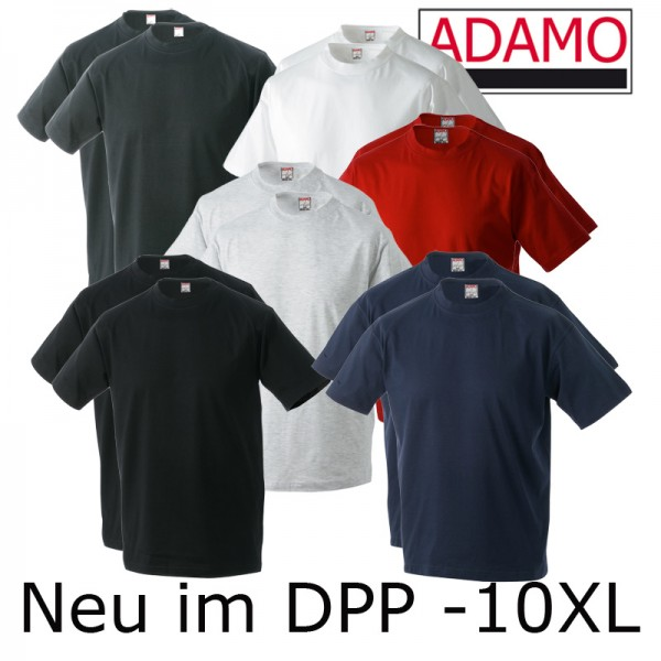 Adamo Basic T-Shirt im Doppelpack