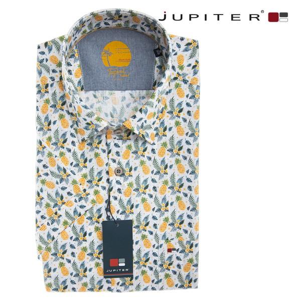 Jupiter halbarm Sommerhemd mir frechen Ananas Druck